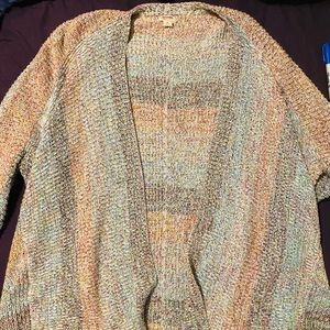 Mossimo long, knitted, multicolored cardigan s:XL